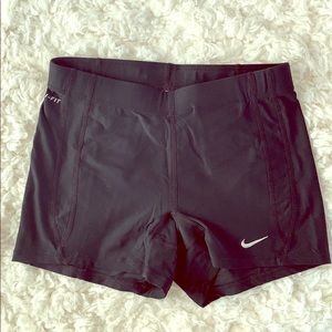 Nike Black Dri-Fit Spandex Running Athletic Shorts